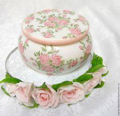 """Купить Шкатулка """"Розочки"""" - розовый, розы, розовый цвет, розочка, шкатулка, шкатулка для украшений"""