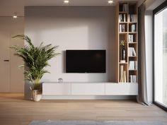 Lacca - Projektujemy wnętrzna Living Room Wall Units, Living Room Tv Unit Designs, New Living Room, Living Room Interior, Living Room Decor, Home Room Design, Home Interior Design, Modern Tv Room, Modern Wall Units