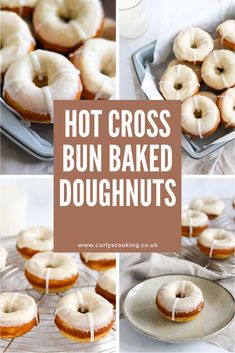The tasty flavours of a hot cross bun in doughnut form. My Hot Cross Bun Baked Doughnuts are a light and fluffy way to enjoy the flavours we all know and love. Spring Recipes, Easter Recipes, Holiday Recipes, Baking Buns, Baked Doughnuts, How To Make Cupcakes, Hot Cross Buns, Easter Cookies, Food And Drink