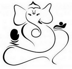 Learn how to draw Ganesha Drawing - Free Hand Drawing for kids Ganesha Drawing, Ganesha Painting, Ganesha Art, Lord Ganesha, Elephant Outline, Outline Art, Outline Drawings, Elephant Gun, Easy Drawings For Kids