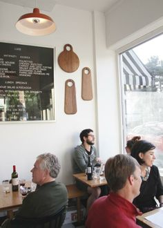 Sandwich board and cutting boards at Luce in Portland, Oregon Coffee Shop Menu, Coffee Store, Cafe Restaurant, Restaurant Design, Sandwich Board, Lunch Specials, Kitchen Pantry, Cutting Boards, Portland Oregon