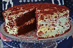 Τούρτα κόκκινο βελούδο (Red velvet) - Food States Tiramisu, Red Velvet, Sweets, Ethnic Recipes, Blog, Cakes, Ideas, Gummi Candy, Cake Makers