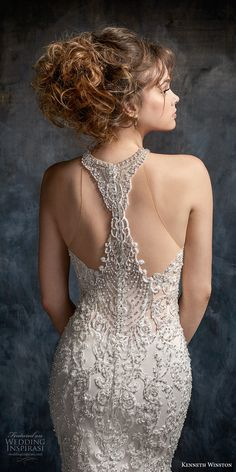 kenneth winston fall 2017 bridal strapless rasor sweetheart neckline heavily embellished beaded bodice elegant mermaid wedding dress rasor back chapel train (44) zbv -- Kenneth Winston Couture Wedding Dresses