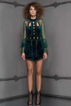 GWEN Yeşil Elbise MLWAW17DE6991 Raisa&Vanessa for Trendyol   Trendyol