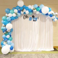 Yeey it's a Baby shower, our Baloon Garland are just Amazing Baby Shower Decorations For Boys, Boy Baby Shower Themes, Birthday Party Decorations, Baby Boy Shower, Baby Boy Balloons, Baby Shower Balloons, Birthday Balloons, Decoracion Baby Shower Niña, Baby Shower Invitaciones