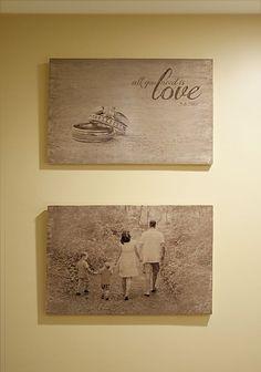 DIY Photo Wood #diy decorating ideas #diy