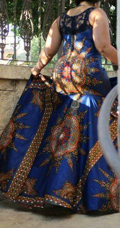 African print dashiki gown/ dashiki dress by TMFashionaccessories