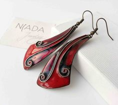 Check out this item in my Etsy shop https://www.etsy.com/listing/287555399/lifespiral-cloisonne-enamel-earrings-in