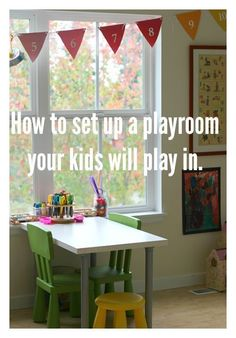 How to set up a playroom your kids will use. How to update it for older kids. How to set up a playroom your kids will use. How to update it for older kids. Playroom Organization, Playroom Decor, Playroom Ideas, Sunroom Playroom, Playroom Design, Leelah, Toy Rooms, Kid Spaces, Girls Bedroom
