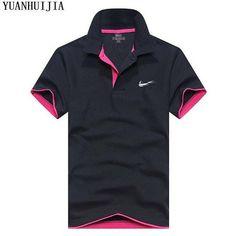 564c2f19b47 2018 Men s Polo ShirtJUST DO IT For Men Desiger Polos Men Cotton Short  Sleeve shirt Clothes jerseys golftennis Plus Size S- XXXL