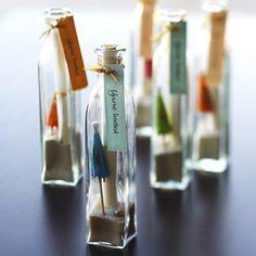 Tiki party = fun message-in-a-bottle invites!  www.dottedline.net
