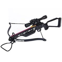Hunting Crossbow Archery Bow 150 Lb Black Metal  4x20 Scope 12 Bolts 180 80 50 #Archery