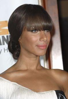 Christina Milian hairstyle: wavy black hair