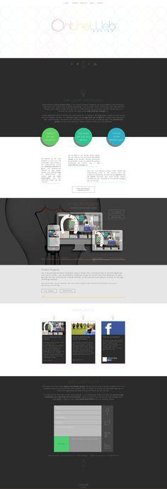 OntheWeb Design by Tom Mualaba, via Behance