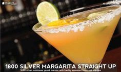 New to our drink menu starting today. 1800 Silver Margarita Straight Up. 1800 silver, cointreau, grand marnier with freshly squeezed limes and oranges.