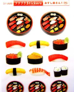 Japanese Stickers SUSHI Traditional Japanese by FromJapanWithLove, $6.00