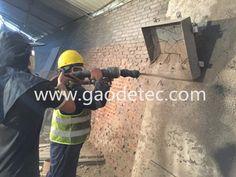refractory gunite machine for test