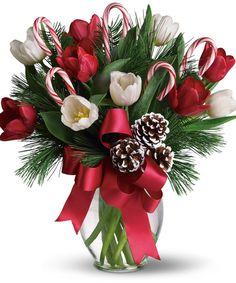 Christmas Floral Arrangements | ... The Photo Above To Visit The Allen's Flowers & Plants Facebook Page