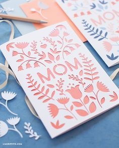 papercut mothers day card