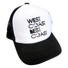 09872bb3f9c West coast best coast trucker hat. Baby and toddler trucker hat. Snap back  adjustable