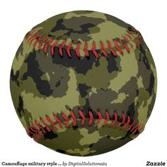Camouflage military style pattern softball