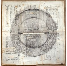 endlessquestion:  Lenore Tawney - Round and Square, collage, 1968