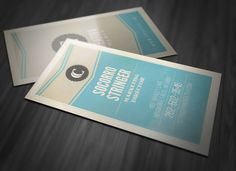 If you're looking for a stylish Photoshop business card template with a vintage style, this one would be a great choice. Vertical Business Cards, Creative Cards, Graphic Design Inspiration, Templates, Marketing, Card Ideas, Vintage, Salt, Stylish