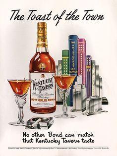 Kentucky Tavern Advertisement - Gourmet: January 1951