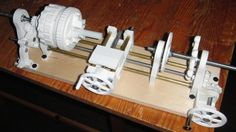 printing a mini lathe Interesting and useful idea. As parts wear out, just print new ones. Extremely low torque applications I would imagine. 3d Printer Designs, 3d Printer Projects, 3d Printing Business, 3d Printing Service, Diy Laser Cutter, Useful 3d Prints, 3d Printing Machine, Diy 3d, Design Fields