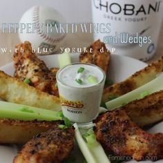 Peppery Baked Wings and Wedges are pretty much all you need this hosting season. Via @famishedfish