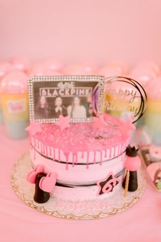 Pink Drip Cake from a Spa Day Birthday Party on Kara's Party Ideas | KarasPartyIdeas.com (20)