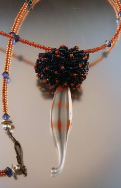 Seed beaded pod bead (made by Patricia Larsen)