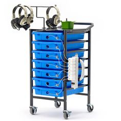 Mobile Technology Storage Designed for classrooms, the 7 Device Tech Cart can safely store up to 7 iPads ®, Chromebooks and other devices. It is a highly mobile solution where students can easily acce
