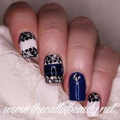 The Call of Beauty: 26 Great Nail Art Ideas: Going on Holiday - Tropical Blue Manicure