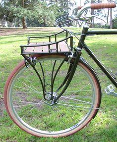 nice rack. trucker rack on a vanilla cycles bike