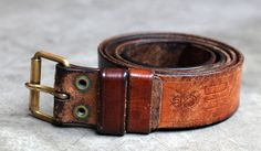 Swedish Army Belt After 10 Years Wear (photo via Inventory)