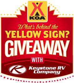 Enter the KOA Behind The Yellow Sign Giveaway. Win a Keystone Passport 171EXP RV! #KOAGiveawayEntry   http://www.behindthesigngiveaway.com/go/?refCode=3663&eventTypeID=2