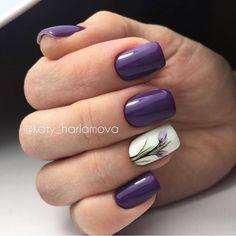 - Best ideas for decoration and makeup - Acrylic Nails, Gel Nails, Nail Polish, Nail Nail, Manicures, Perfect Nails, Gorgeous Nails, Violet Nails, Fall Nail Art Designs