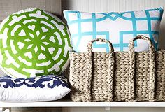 loving these pillows / color combo /patterns