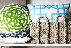 Fun, decorative pillows.