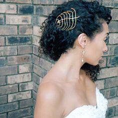 Wedding Hairstyle for Naturally Curly Hair! Curly Hairstyles for Brides, Bridesmaids or Quinceañeras.