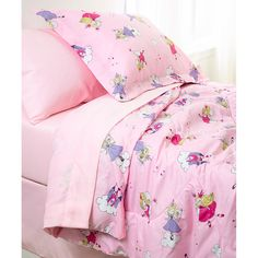 Color your child's dreams with a playful print designed to spark the imagination. 'Magical' Collection bedding features magical faries, castles and clouds. This comfortable set is conveniently machine washable.