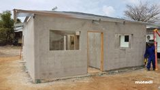 moladi model home Trinidad Cement House, Low Cost Housing, Modern Prefab Homes, Affordable Housing, Model Homes, Rafting, Trinidad And Tobago, Shed, Construction