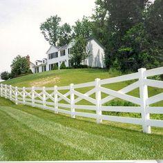 Property Fence Option - criss-cross white