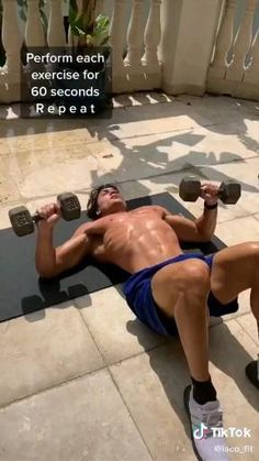 Biceps Workout At Home, Chest Workout At Home, Abs And Cardio Workout, Fitness Workouts, Gym Workout Chart, Gym Workout Videos, Abs Workout Routines, Weight Training Workouts, Gym Workout For Beginners
