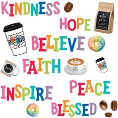 Classroom Jobs, Classroom Crafts, Classroom Design, Teacher Supply Store, Teacher Supplies, To Go Coffee Cups, Coffee Shop, Name Tag Design, Believe