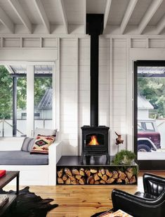 7 best wood stoves images on pinterest wood burning stoves wood small energy efficient farmhouse in austin designed for a bachelor fandeluxe Gallery