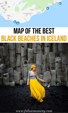 Map of the best black beaches in iceland iceland black sand beaches and where to find them travel tips for iceland beaches things to do in iceland map of iceland Iceland Travel Tips, Europe Travel Tips, Travel Guides, Travel Hacks, Travelling Tips, Usa Travel, Europe Destinations, Iceland Beach, Iceland Black Sand Beach