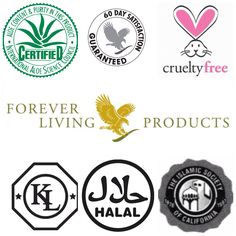 Forever have many certifications including many seals of approval from the Islamic society, the Aloe science council, Kosher, Halal and the cruelty free bunny ears (animals can use our products but they are not and never will be tested on).