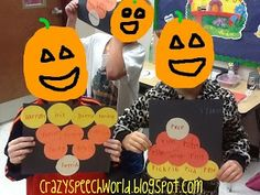 Crazy Speech World: S/L Candy corn Craftivity
